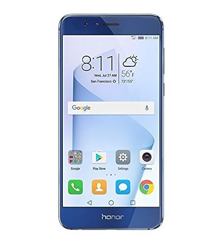 Huawei Honor 8 Dual Camera Unlocked Phone 64GB - Sapphire Blue - GSM - US Warranty (Octacore Huawei)