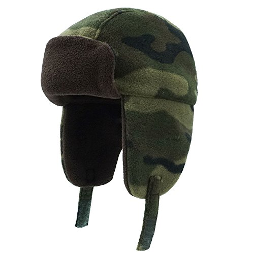 Keepersheep Todder Baby Boys' Ushanka Earflap Winter Hat Cap, Infant Kids' Camo Hat,100% Polyester (4-5T) Winter Camo Cap Hat