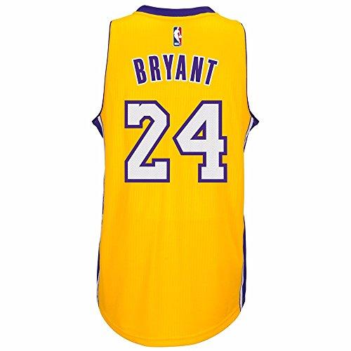Adidas Mens Los Angeles Lakers NBA Kobe Bryant Swingman Jersey Gold Small