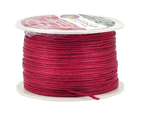 Reds Catchers (Mandala Crafts 1mm 109 Yards Jewelry Making Beading Crafting Macramé Waxed Cotton Cord Thread (Dark Red))