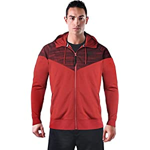 NIKE Air Hybrid Windrunner Men's Zip Up Hooded Jacket Red Size XL