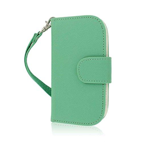 MPERO FLEX FLIP Wallet Case for Samsung Galaxy Exhibit T599 - Mint (Phone Exhibit Samsung Wallet)