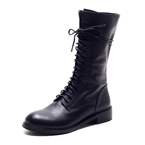 Warm pour Rond Bout Femme Bas Black Talon à à Bottines wOqYzZx