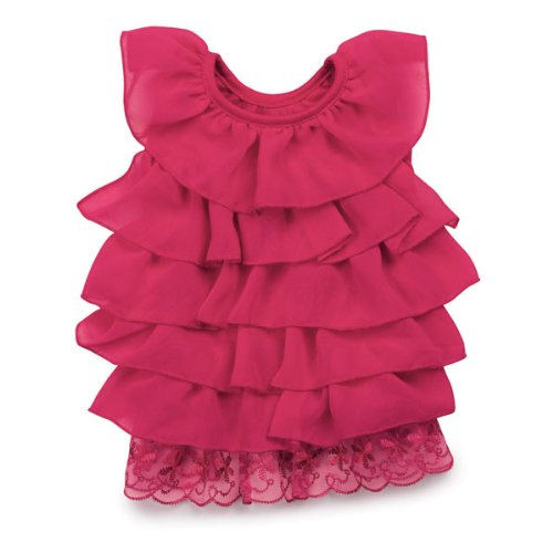 East Side Collection 14-Inch Polyester Ruffle Dog Dress, Small/Medium, Raspberry, My Pet Supplies