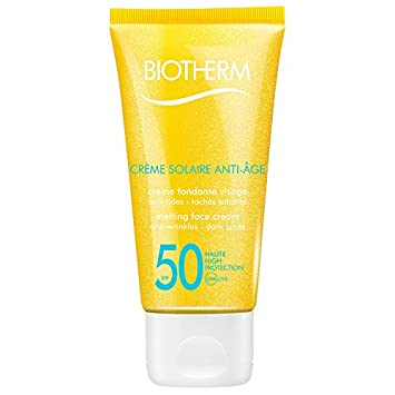 Biotherm Creme Solaire, SPF 50 UVA UVB Melting Face Cream, 1.69 Ounce