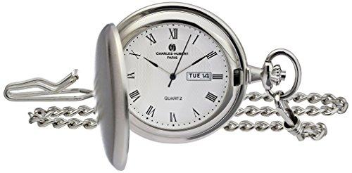 Charles-Hubert, Paris 3974-W Classic Collection Analog Display Japanese Quartz Pocket Watch