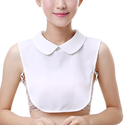Shirt Collar Dickie - YAKEFJ Women Girls Fake Collar False Collar Half-Shirt Detachable Lapel Shirt Collar Choker Necklace Collar