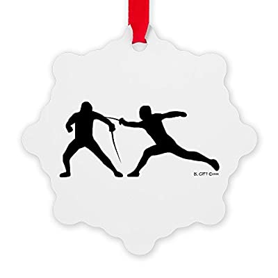 CafePress - Fence! - Snowflake Ornament, Decorative Christmas Ornament