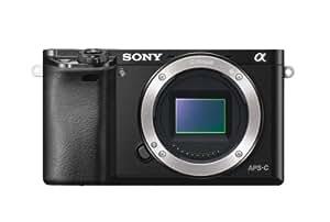 Sony A6000 - Cuerpo de cámara EVIL de 24 Mp (estabilizador óptico, vídeo Full HD, WiFi), negro