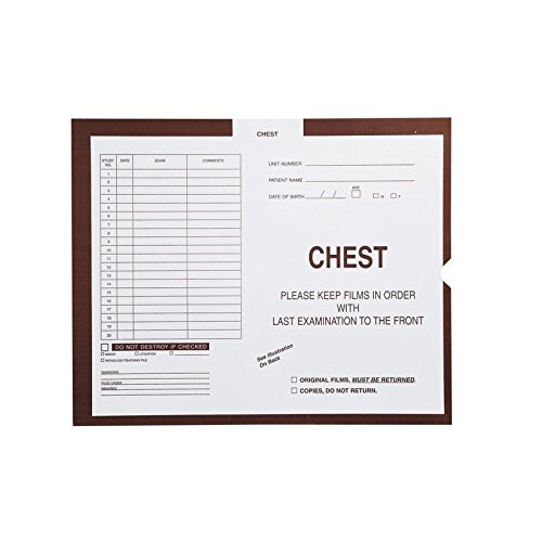 Chest, Brown #168 - Category Insert Jackets, System I, Open End - 14-1/4'' x 17-1/2'' (Carton of 250)