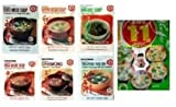 Taste of Japan #6 - Instant Japanese Miso Soup Sampler Party Packs (Tofu-spinach Miso, Clear Broth, Wakame, Tofu Miso with Bean Curd) in 10 Packs - 37 Servings