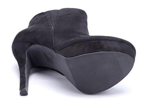 Schuhtempel24 Damen Schuhe Stiefel Plateau Stiefeletten N0wvn8ymO