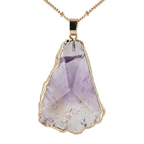 Bonnie 24 inch Agate Stone Crystal Pendant Necklace Handmade Jewelry (2)