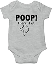 Witty Fashions Poop There it is - Funny Cute Novelty Infant Creeper, One-Piece Baby Bodysuit