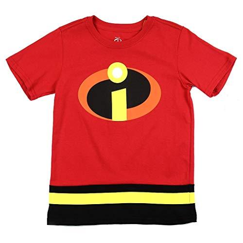 (Disney Little Boys' Incredibles Logo Costume Tee)