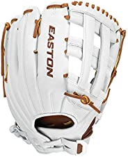 """EASTON Professional Collection Fastpitch Softball Glove, 12.75"""", RHT, Outfield Pattern, H Web, PCF"""