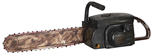 Halloween Chainsaw Prop - Animated Chainsaw Makes Realistic Sounds and Chain Moves by Gemmy (A Chainsaw For Halloween)