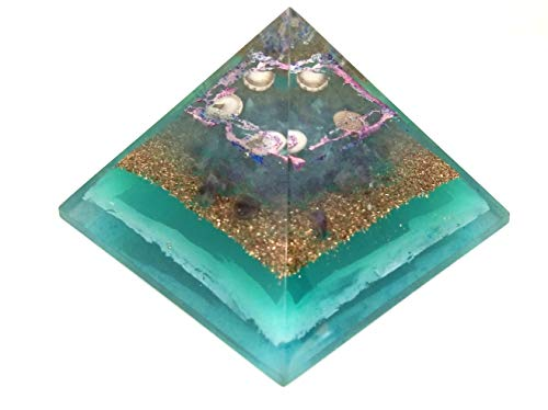 Jet New Ocean Orgone Energy Pyramid Approx 200-220 Grams. Free Booklet Crystal Therapy Nervous System, Birds Leadership Wealth Blessings Cleansings Purification Creativity.
