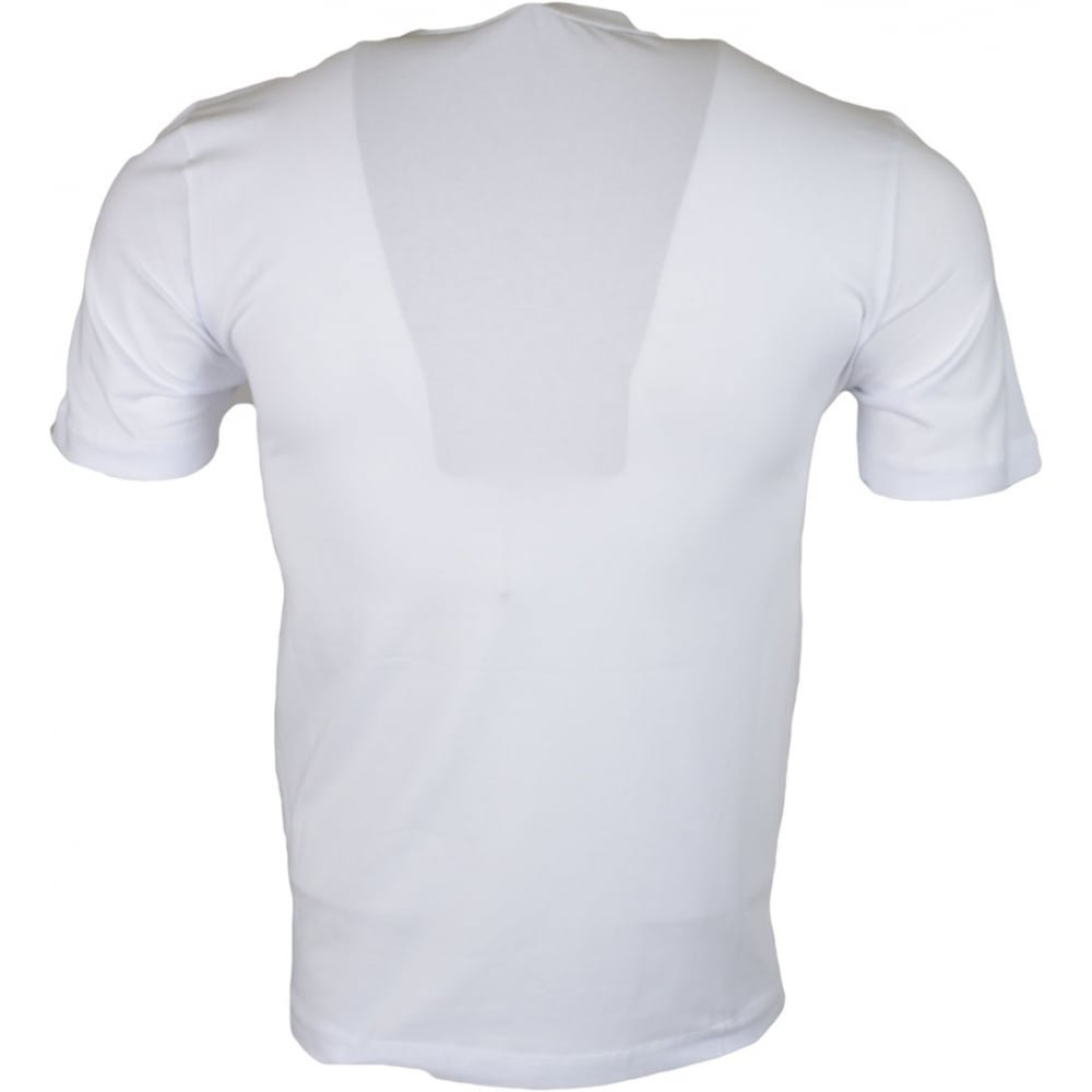 MOSCHINO M473171E1811 Love Printed Stretch Slim Fit White T-Shirt L White by MOSCHINO (Image #2)