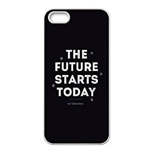 iPhone 5 5s Cell Phone Case White quotes future starts today FXS_698512