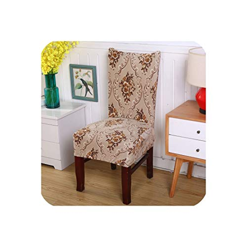 Stretch Spandex Polyester Chair Cover Nordic Floral Printing Anti Dirty Seat Case Dining Room Office Chair Protector Seat Cover,6,Universal Size