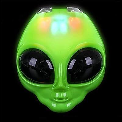Rhode Island Novelty 8 Inch Light-Up Flip Green Alien Mask One Per Order: Toys & Games