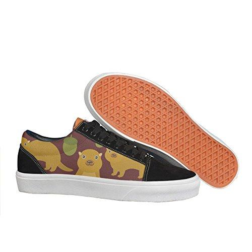 Squirrel Acorn Tree Oak Tree Women skate shoe Slip-On Slip Fashion nursing gift (Skateboard Shoe Oak)
