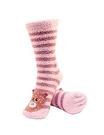 Super Soft Warm Cute Animal Non-Slip Fuzzy Fluffy Crew