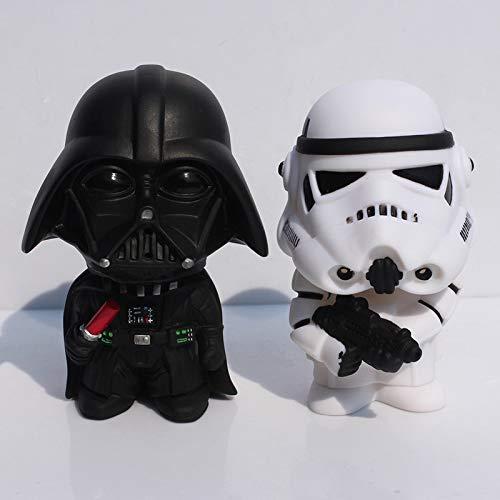 (HOLLUK 10Cm 2Pcs/Lot Q Style & Storm Trooper Action Figure Model Toy Come with Retail Box -Multicolor Complete Series Merchandise)