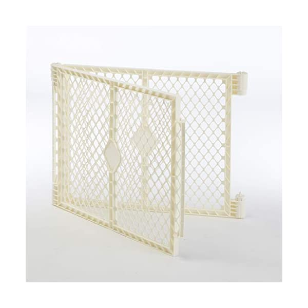 North States 2-Panel Extension for Ivory Superyard Ultimate Play Yard: Increases play space up to 34.4 sq. ft. (Adds 64″, Ivory)