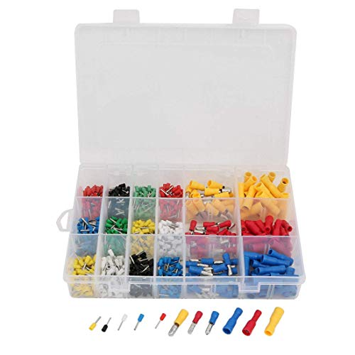 ZCHXD 660 Pcs Various Type Pre Insulated Terminal Cable Connector Assortment Set