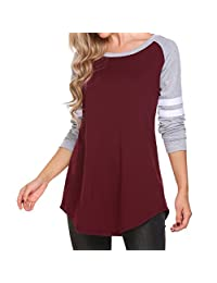 EVERICH Womens Long Sleeve Tops Blouse Loose Style 5 Colors