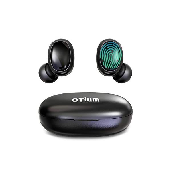 Otium Wireless Earbuds Bluetooth 5.0 Headphones Deep Bass 3D Stero Sound Mini Headsets 40H Total Playtime with Charging Case IPX7 Waterproof Built-in Mic Earphones for Work, Sports, Driving