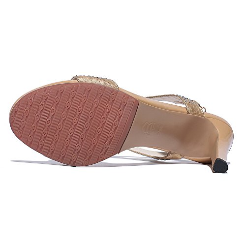 AgooLar Women's High-Heels Soft Material Solid Buckle Open Toe Sandals Nude lDnftGSZXC