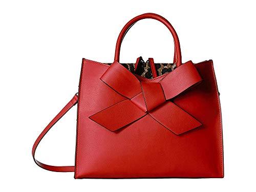 Betsey Johnson Women's Cutting Edge Bow Satchel Red One Size (Betsey Johnson Handbags Red)