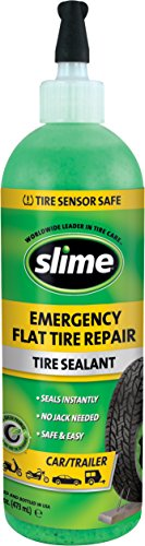 Slime 16 Ounce 10011 Emergency Tire Repair Sealant, 16 oz. (Car/Trailer)