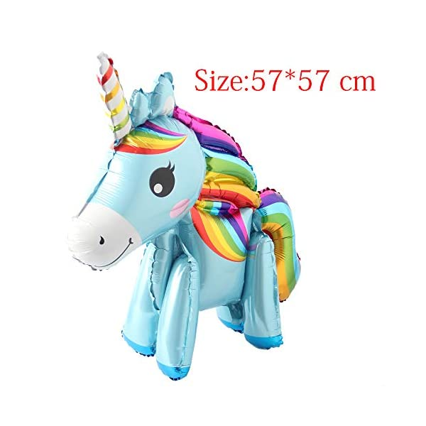 Self Stand steadily Unicorn Birthday Party Decorations Supplies Wedding Engagement Children's Day Foil Unicorn horse… 11