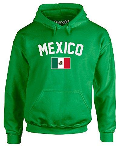(Mexico Fan, Adults Printed Hoodie - Irish Green M)