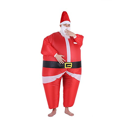 Anself Funny Christmas Santa Claus Inflatable Costume Jumpsuit Blow Up Suit (Funny Santa Costumes)