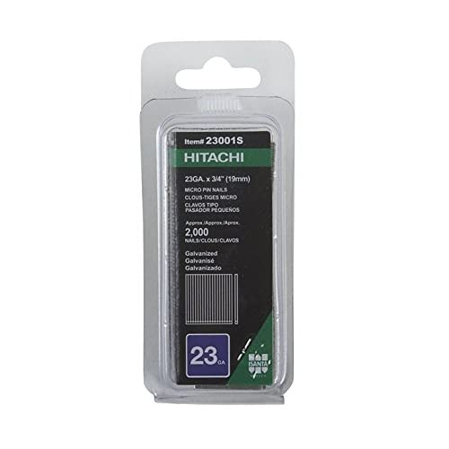 Hitachi 23001S 3/4-Inch x 23-Gauge Electro-Galvanized Headless Pins, 2000-Pack
