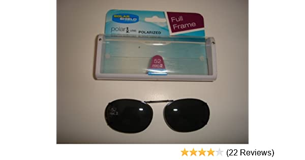 6d0968a3e1 Amazon.com  Solar Shield 52 rec 2 full frame Gray Polarized Clip on  Sunglasses  Health   Personal Care
