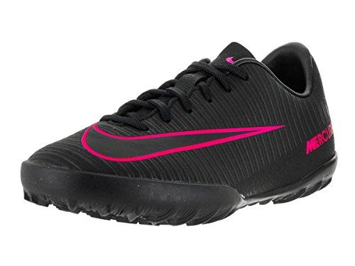 Nike Kids Jr Mecurialx Vapor XI Tf Black/Black/Pink - Youth Soccer Turf