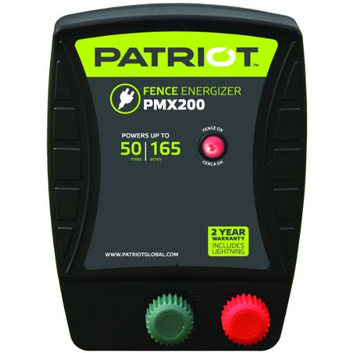 Patriot PMX200 Electric Fence Energizer, 2.0 Joule For Sale