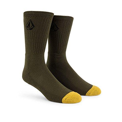 Volcom Men's Full Stone Sock, Army Green Combo, One Size