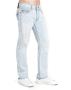 Men's Straight Leg Super T Jeans in Worn Indigo