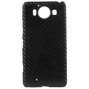 MTP Microsoft Lumia 950 Carcasa Dura, Cover, Case - Fibra de Carbono - Negro
