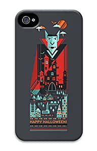 iPhone 4 Case, Customized Protective Halloween 10 Hard 3D Case Cover for iPhone 4 4s