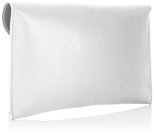 Bags4Less Damen Venedig Clutch, 2x18x28 cm Weiß (Weiss)