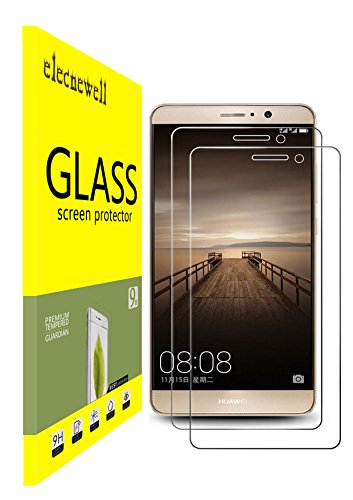 [2-Pack]Huawei Mate 9 Screen Protector,ELECNEWELL [Anti-Scratch][Anti-Fingerprint][Bubble Free][Tempered Glass]Screen Protection for Huawei Mate 9
