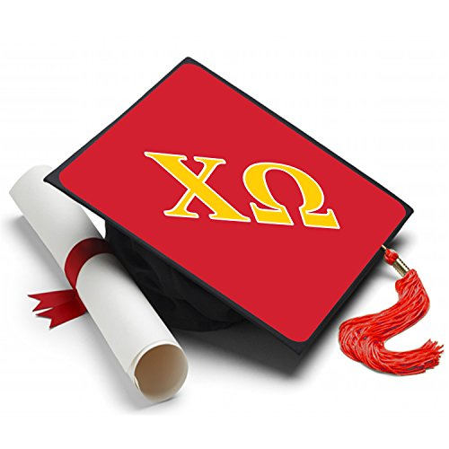 Sorority Big Little Reveal Costumes (Chi Omega Graduation Cap Hat Topper Decoration Sorority)
